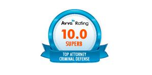 Avvo Rating 10.0 Superb Top Attorney Criminal Defense