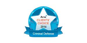 Avvo Clients' Choice 2014 Criminal Defense